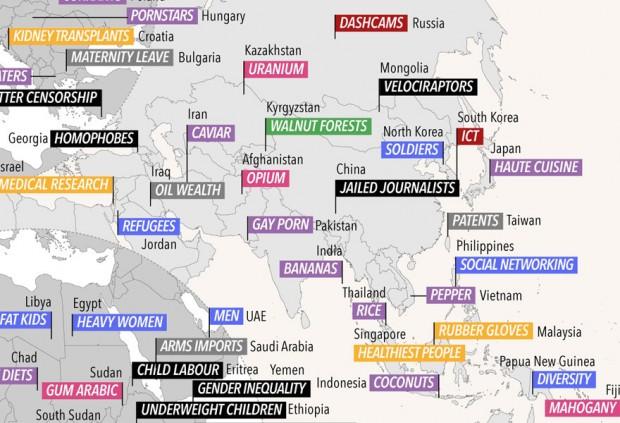کشورهای جهان با چه چیزی معروف هستند