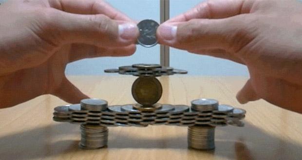 روی هم چیدن سکه ها