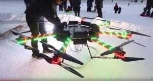 این پهپاد غول پیکر میتواند یک انسان را به پرواز دربیاورد!