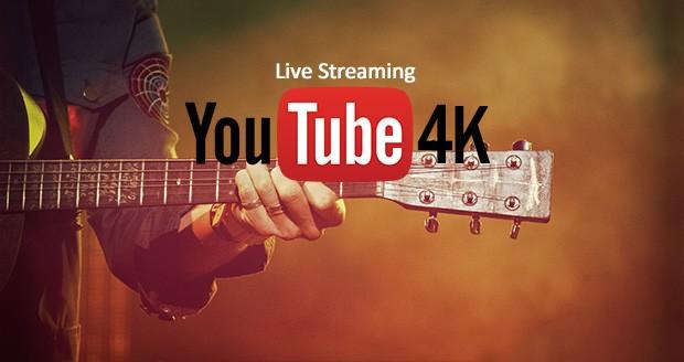 استریم زنده 4K در یوتیوب