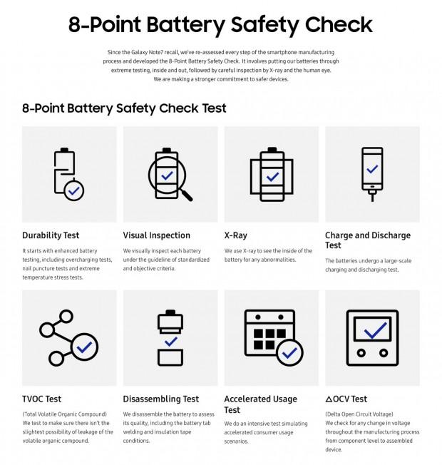 بررسی 8 مرحله ای باتری در گوشی های جدید سامسونگ عملیاتی میشود