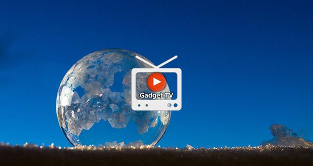 حباب های یخ زده با شکل هایی بسیار زیبا (ویدیو)