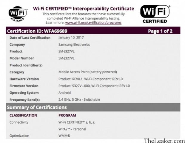 گوشی گلکسی جی 3 مدل 2017 سامسونگ تاییدیه وای فای را دریافت کرد