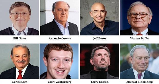 8 مرد ثروتمند دنیا