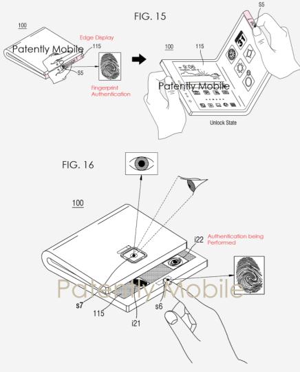ثبت پتنت گوشی تاشوی سامسونگ مجهز به سیستم تشخیص هویت چندگانه