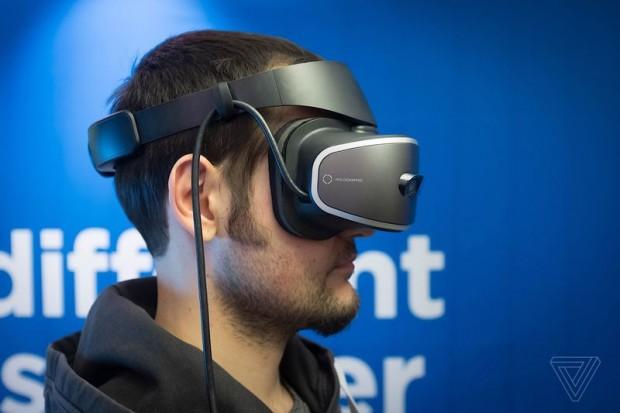 هدست واقعیت مجازی لنوو مجهز به ویندوز هولوگرافیک