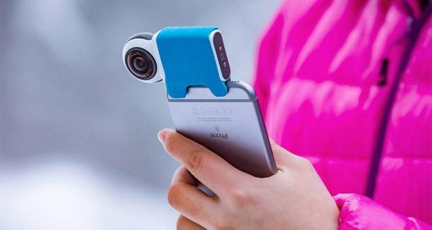 دوربین Giroptic iO برای فیمبرداری 360 درجه با گوشی های هوشمند