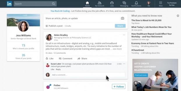 تغییرات عظیم طراحی لینکدین که آن را بیشتر به فیسبوک شبیه میکند