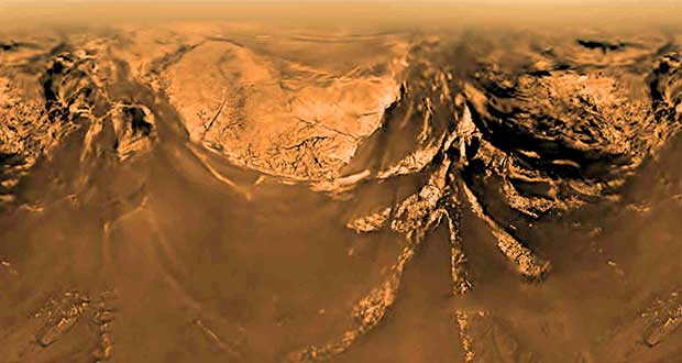 بازسازی نحوه فرود کاوشگر هایجنز در تایتان توسط ناسا