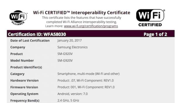 عرضه آپدیت اندروید نوقا برای گلکسی اس ۶ توسط اتحادیه Wi-Fi تایید شد