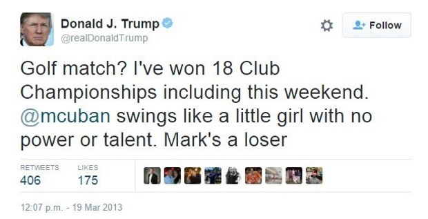 فعالیت ترامپ در توییتر