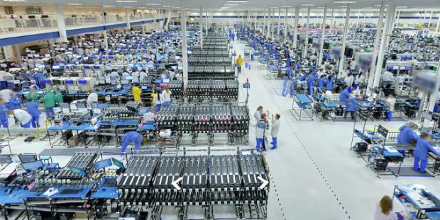 فاکسکان کارخانجاتی را برای تولید ال سی دی شارپ در آمریکا میسازد