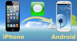 انتقال پیامک ها از آیفون به اندروید