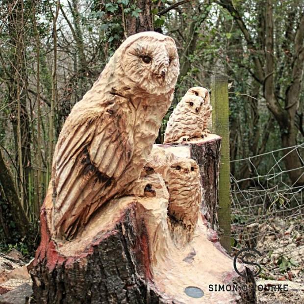ساخت مجسمه چوبی با استفاده از اره برقی (تصاویر)