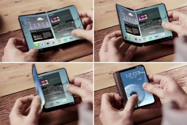 نمونه اولیه گوشی قابل انعطاف سامسونگ در نمایشگاه MWC 2017 نمایش داده میشود