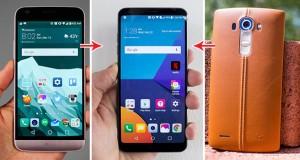 گوشی ال جی G6 در برابر جی 5 و جی 4