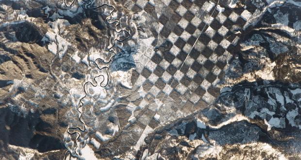 صفحه شطرنجی در سطح زمین