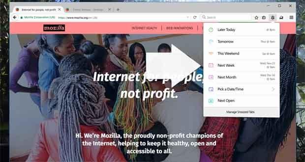 فایرفاکس مشغول آزمایش قابلیتی برای به تاخیر انداختن نمایش تب های مرورگر است