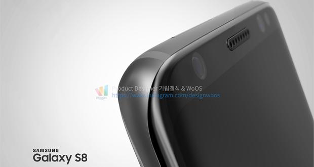 رندرهای سه بعدی جدید از طراحی زیبای گلکسی اس 8 را مشاهده کنید
