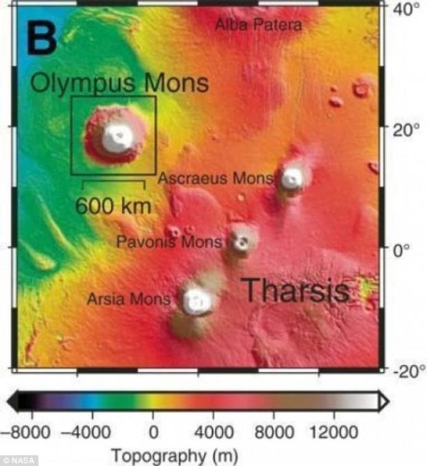 آتشفشان های مریخ همزمان با انقراض دایناسورها در زمین خاموش شدند