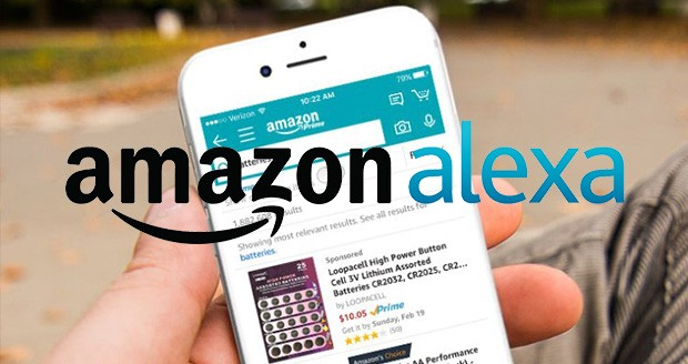 دستیار آمازون الکسا در اپلیکیشن فروشگاه آمازون