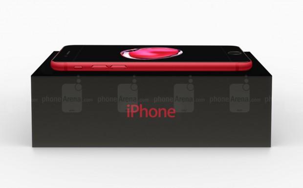 مدل قرمز آیفون 7 با پنل جلویی مشکی