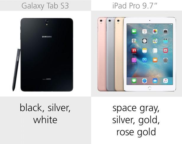 مقایسه گلکسی تب اس 3 سامسونگ با آیپد پرو اپل