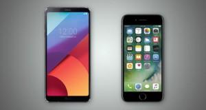 مقایسه ال جی جی 6 با آیفون 7 اپل