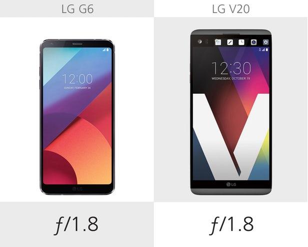 مقایسه ال جی جی 6 با ال جی وی 20