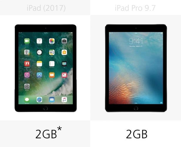 مقایسه آیپد 2017 با آیپد پرو 9.7 اینچی