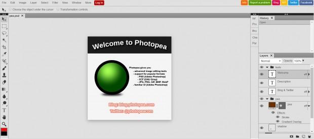 مشاهده و ویرایش آنلاین فایل PSD