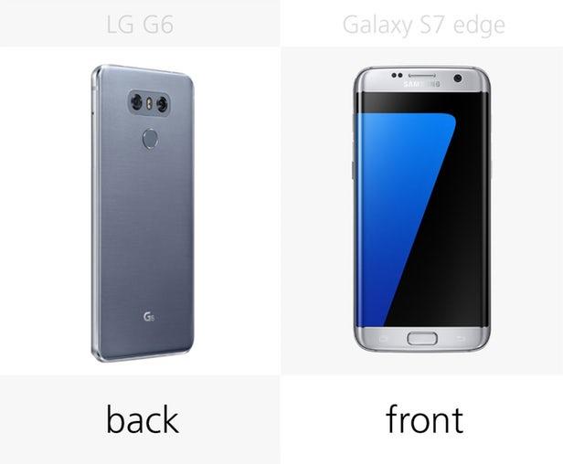 مقایسه ال جی جی 6 و گلکسی اس 7 اج سامسونگ
