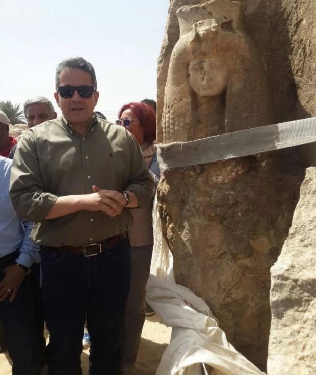 کشف احتمالی مجسمه مادربزرگ پادشاه توت در امتداد رود نیل
