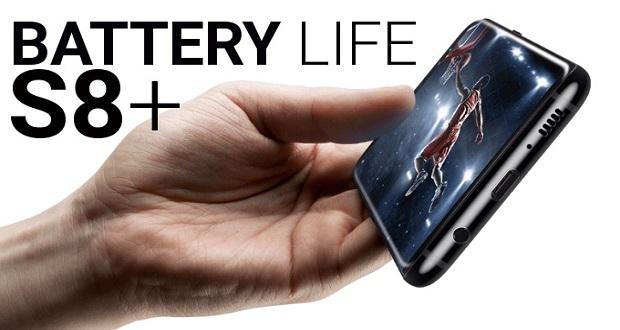 تست باتری گلکسی اس 8 پلاس