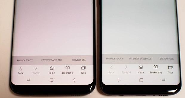 قرمزی صفحه نمایش گلکسی S8
