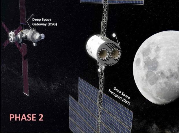فرودگاه فضایی در مدار ماه