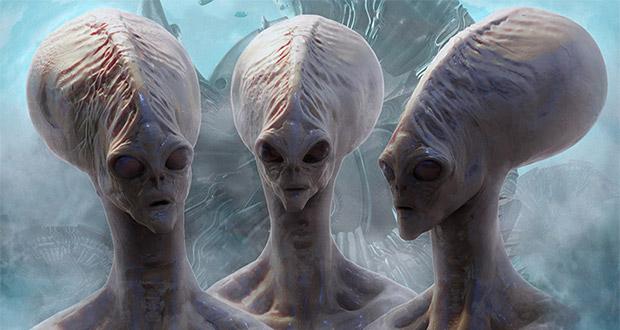 موجودات فضایی در حال بازدید از زمینیان