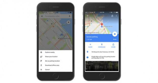 ذخیره جای پارک خودرو در گوگل مپس