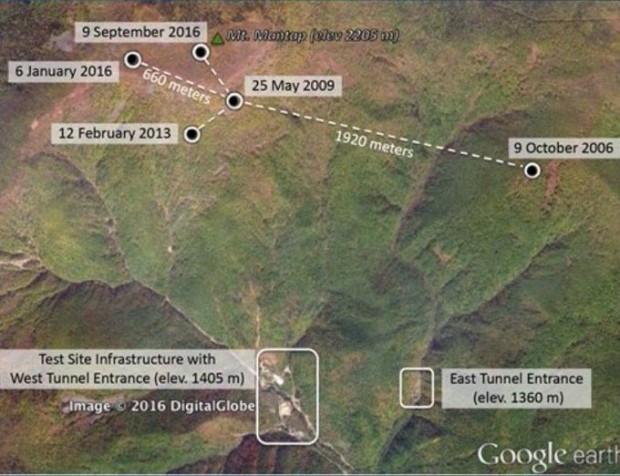 سایت آزمایش هسته ای کره شمالی