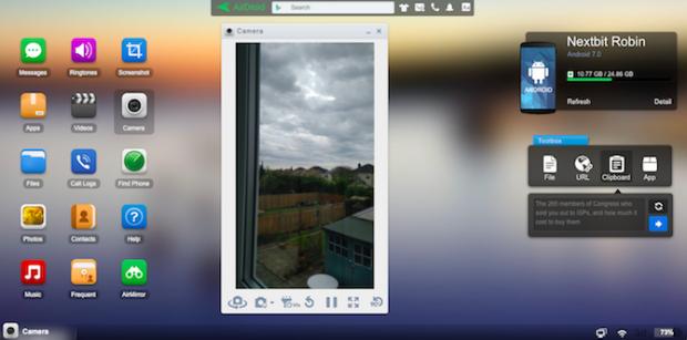 airdroid camera 620x307 - روشهای کنترل گوشی با کامپیوتر