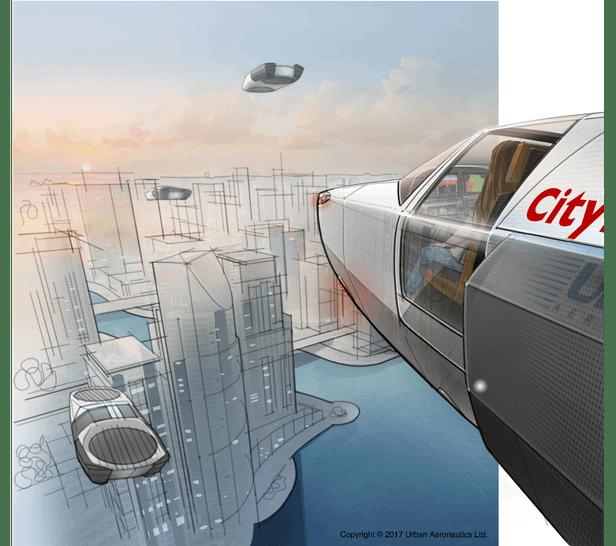 خودرو پرنده CityHawk