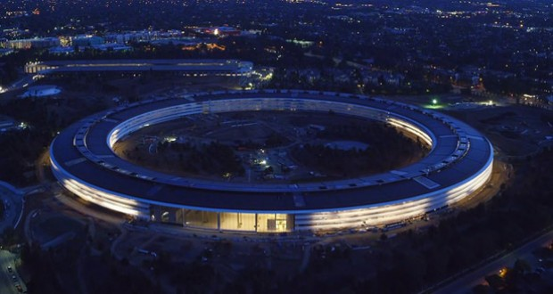 ویدیوی ثبت شده توسط پهپاد از پیشرفت مقر جدید شرکت اپل