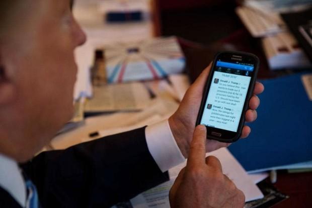 گوشی موبایل دونالد ترامپ