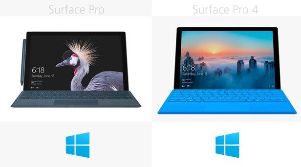 مقایسه سرفیس پرو 2017 با سرفیس پرو 4 مایکروسافت