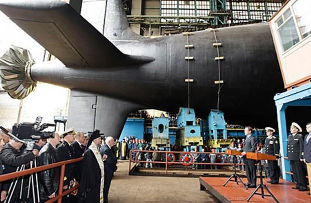 قوی ترین زیر دریایی هسته ای روسیه