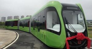 نخستین قطار بدون ریل