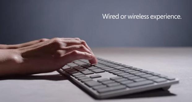 کیبورد مدرن مایکروسافت مجهز به حسگر اثر انگشت معرفی شد