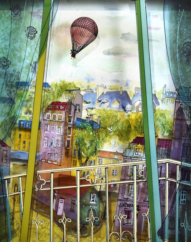 تصاویری فوقالعاده از نقاشی روی شیشه به صورت سه بعدی