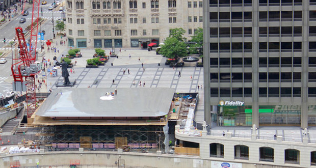 سقف فروشگاه جدید اپل در میشیگان