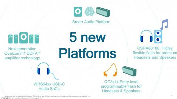 چیپ های جدید کوالکام مخصوص اسپیکرهای هوشمند و هدفون های USB C